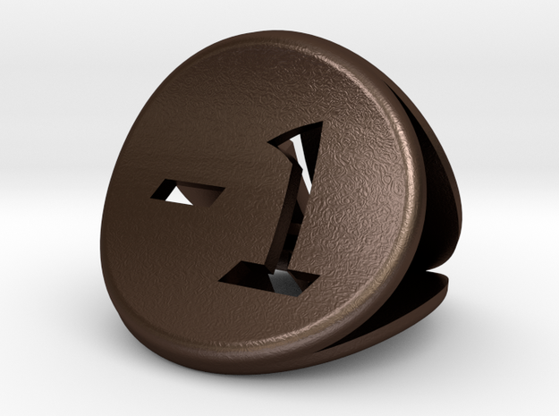 The Confused Coin 3d printed
