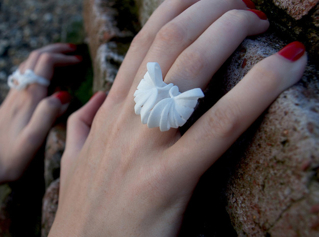 Pumpkin Ring Size 8 3d printed White