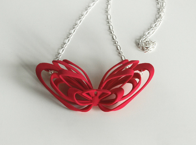 Ribbon Necklace 3d printed