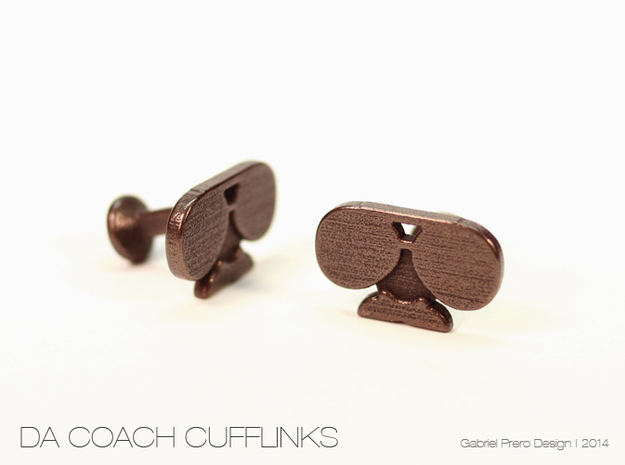 Da Coach Cufflinks - version 1 3d printed
