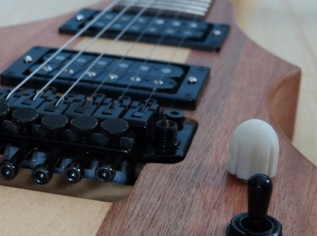 Bullethead knob for guitar/bass 3d printed