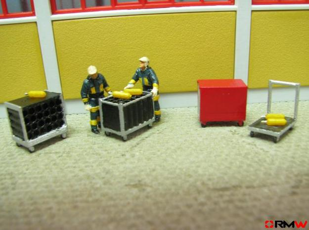 HO/1:87 Rollcontainer set 1 kit 3d printed Diorama example (figures not included)