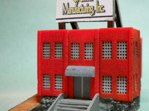 Factory Corner - Z scale 3d printed Photo thanks to Thom Welsch