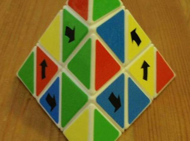 Latch Pyraminx 3d printed