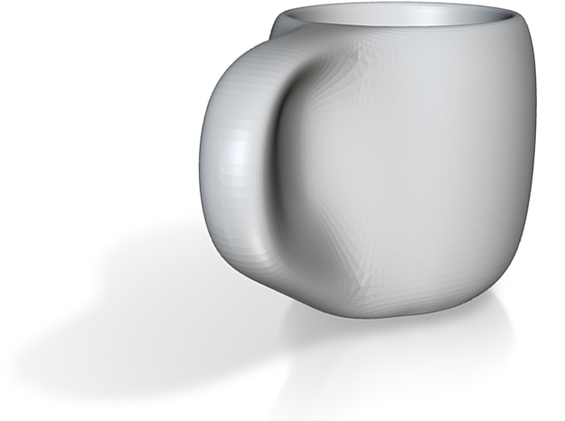 clay cup scaled postPrint lipShaped 3d printed