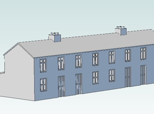 Terraced house 3d printed