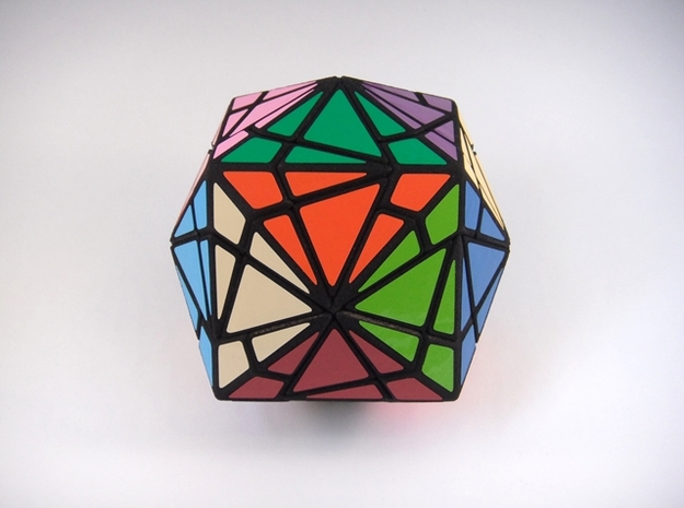 Fractured Cube Puzzle 3d printed Symmetric Face