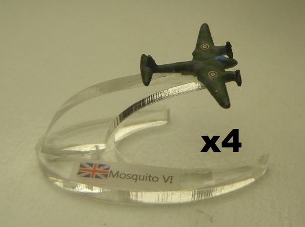 Mosquito FB Mk VI 1:900 x4 3d printed Comes unpainted. Set of 4