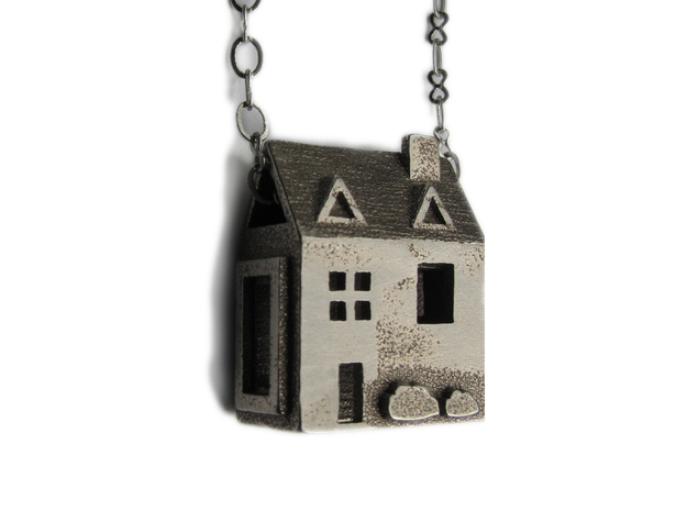 House necklace 3d printed