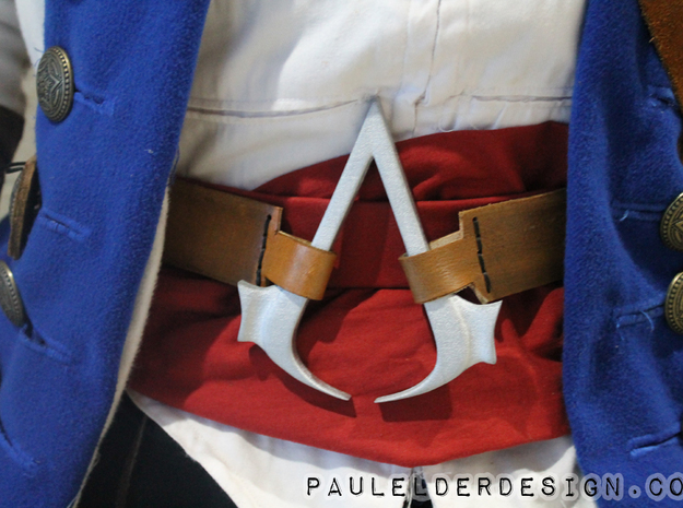 AC Connors Buckle 3d printed Finished product on one of my customers cosplay's