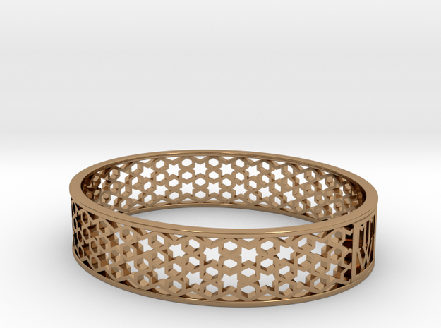 MMW MOROCCO BANGLE 15mm medium 3d printed