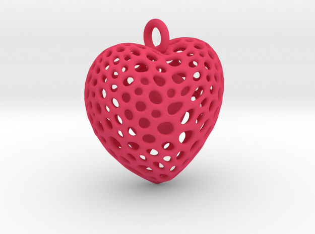 Double Heart Pendant 3d printed