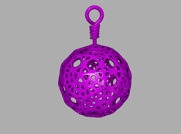 Pendant Subdivided Spher 3d printed