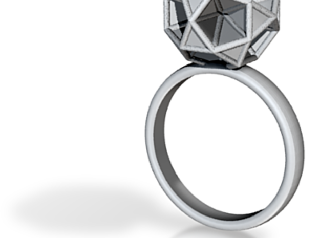 Polyhedron Ring Size 8 3d printed