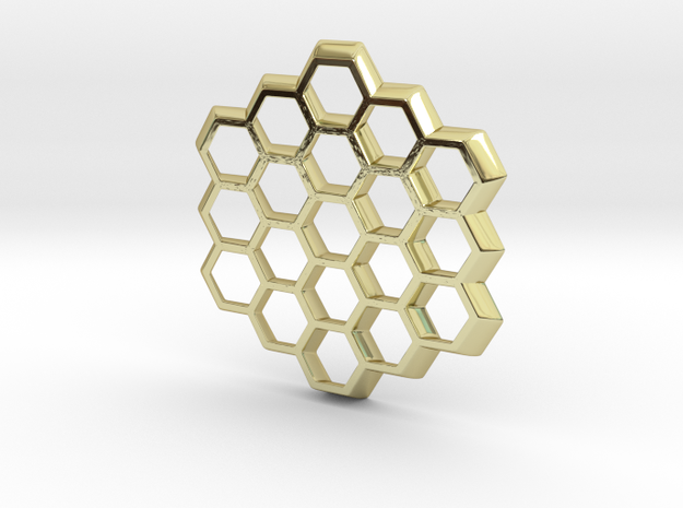 Honeycomb Slice Pendant 3d printed
