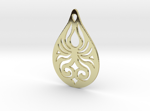 Tribal Pendant 3d printed