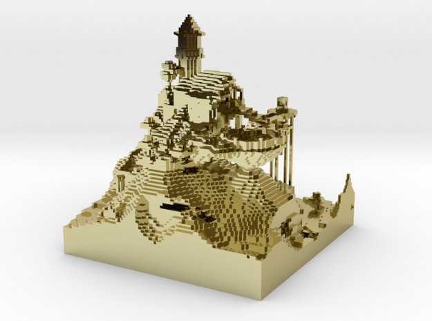 House on a hill 3d printed