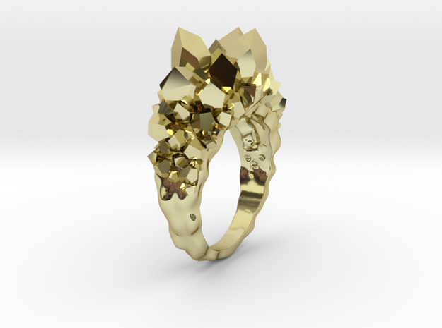Crystal Ring Size 8 3d printed