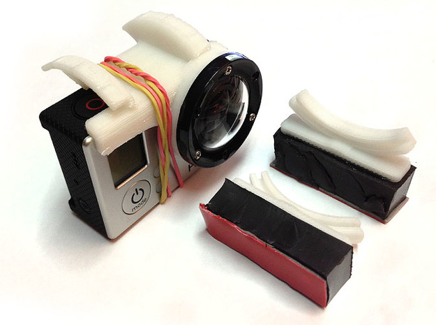 GoPro Hero3 kit for DJI Phantom quad 3d printed