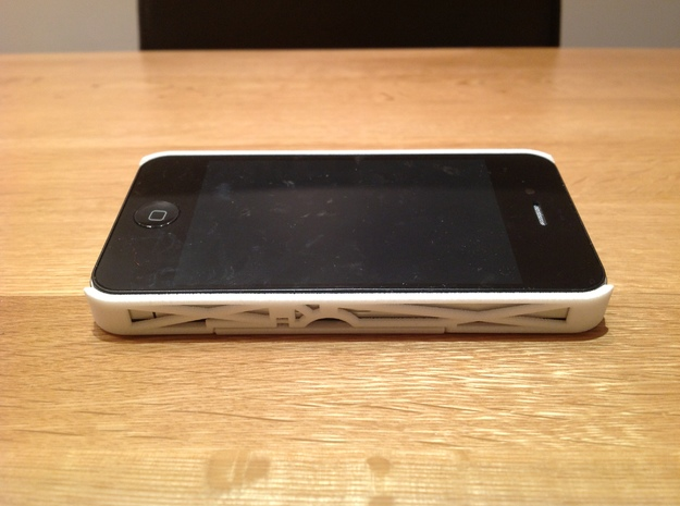 iPhone 4 / 4s Case with Flip Out Stands - TriStand 3d printed