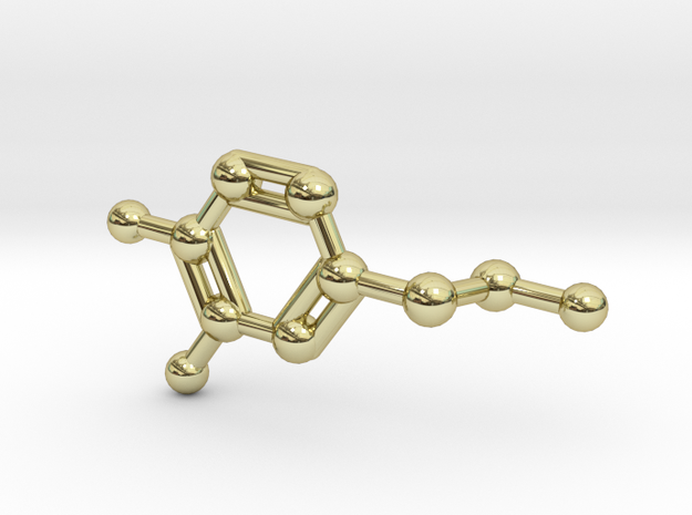 Dopamine Molecule Necklace Keychain 3d printed