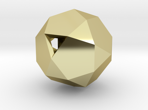 Icosidodecahedron 3d printed