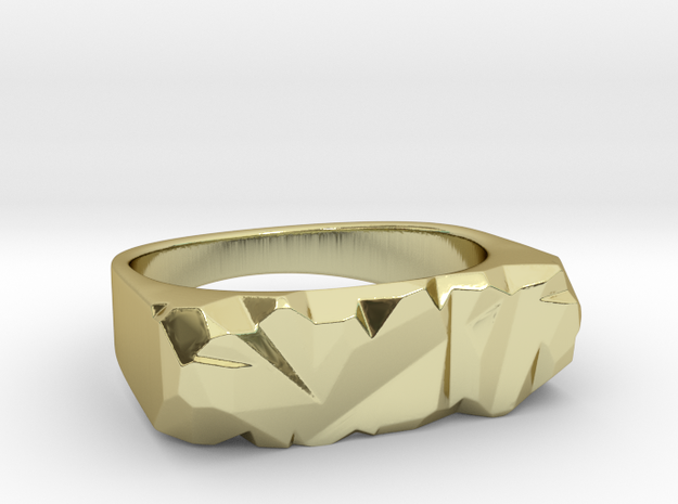 Abstract Stone Ring 3d printed