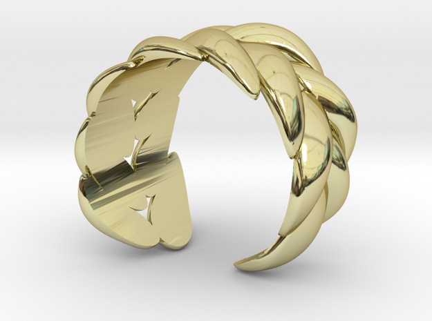 """SPIGA"" Ring US Size 8 (18.2 mm) 3d printed"