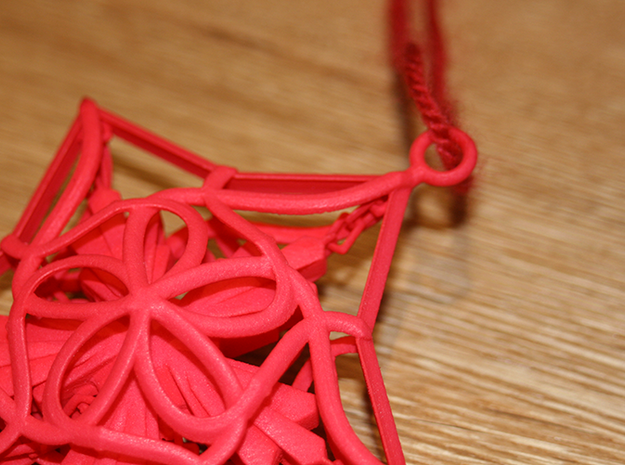 Captured Snowflake - Christmas Ornament 3d printed
