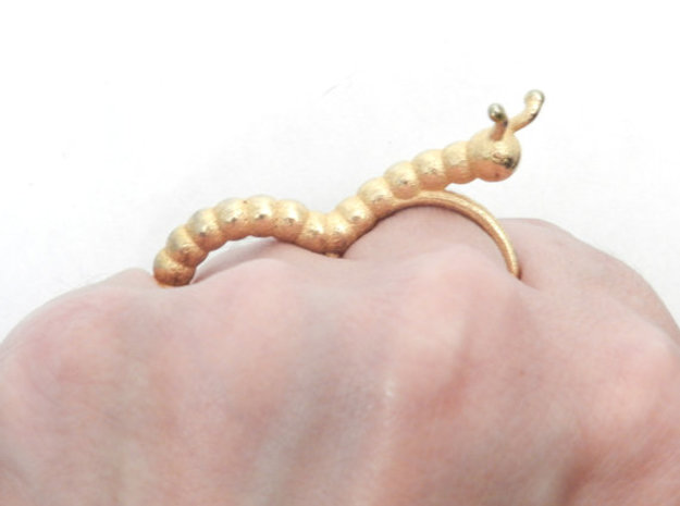 Caster the Curious Caterpillar Ring 3d printed