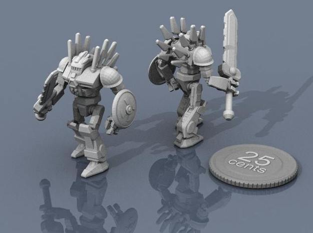 Mayan Doom Bot #1 3d printed Renders of the model, with a virtual quarter for scale.