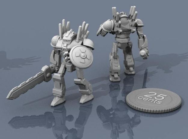 Mayan Doom Bot #2 3d printed Render of the model, with a virtual quarter for scale.
