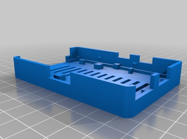 Raspberry Pi Case Bottom 3d printed