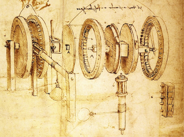 Leonardo da Vinci's Reciprocating Motion Machine 3d printed Codex Atlanticus f. 30 v. Leonardo da Vinci