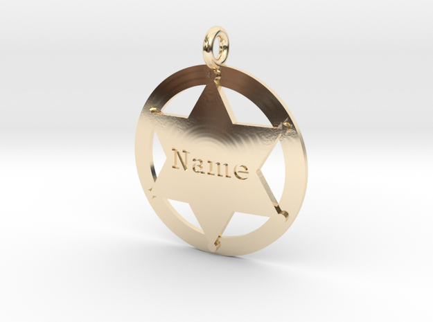 Sheriff's Star (6-point) Pet-Tag/Pendant (Thinner) 3d printed