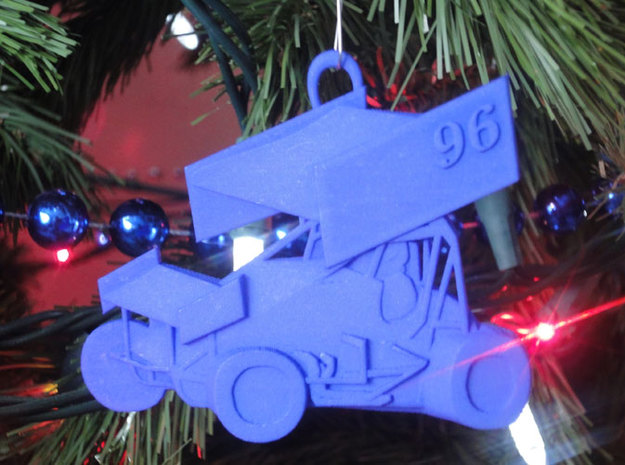 Sprint Car Ornament 3d printed Suggested Use