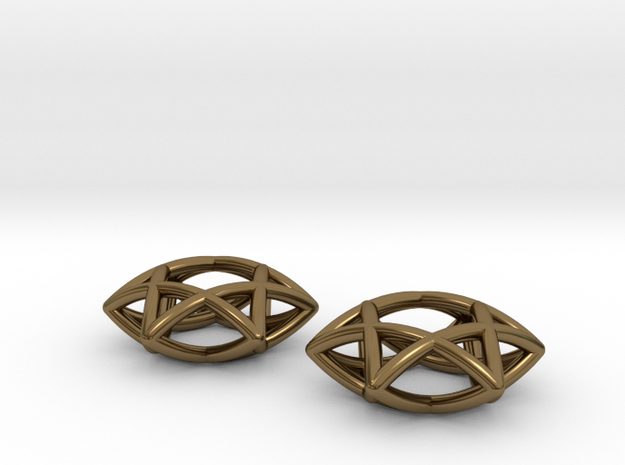 Star Of David earrings (pair) 3d printed