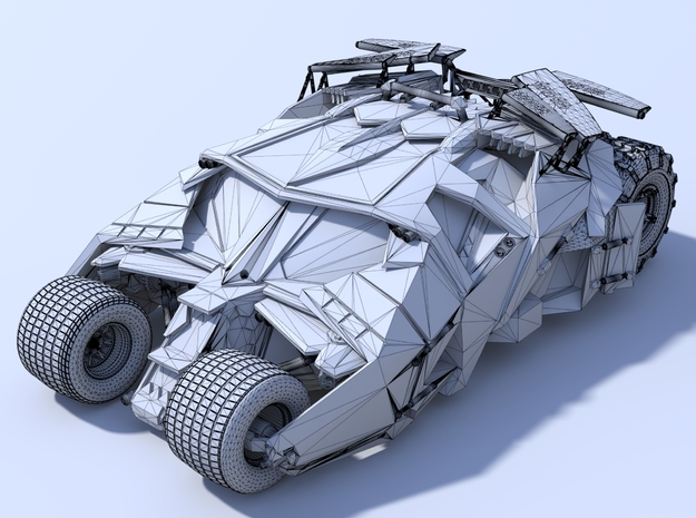 Batman - Tumbler Car [80mm & Hollow] 3d printed