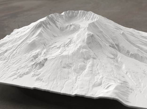 8'' Mt. St. Helens Terrain Model, Washington, USA 3d printed Radiance rendering