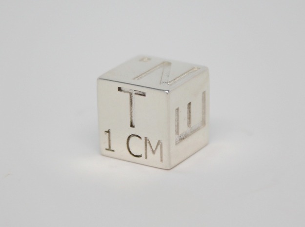 1 CM Photo Scale Cube 3d printed