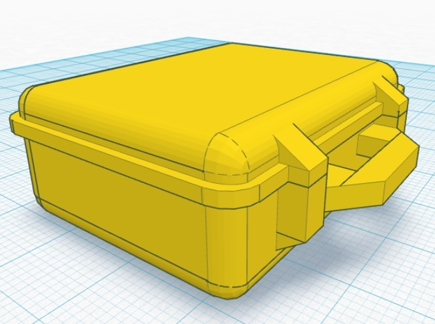 Hinged Mini Pelican Case 3d printed