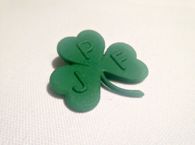Personalize-able Lucky Shamrock Pendant
