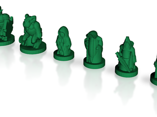 Tribes of the Dark Forest 3d printed