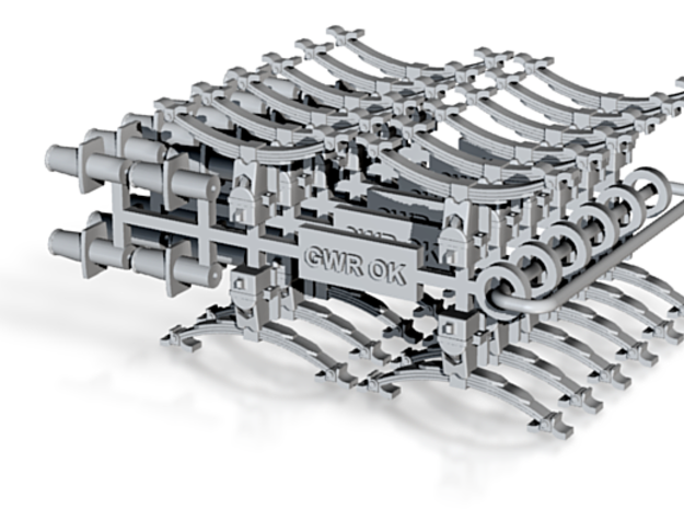 GWR OK axleboxes,springs and buffers buffers 3d printed