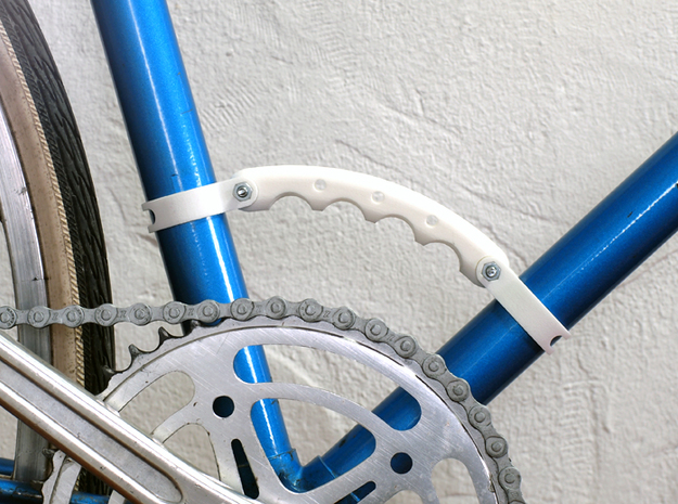 Fixie Carrying Handle 3d printed White Strong & Flexible