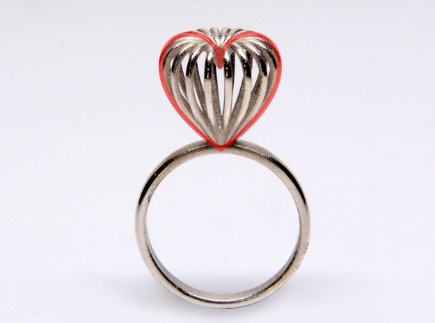 Infinite Love Ring Size 7 3d printed made of hearts ;)
