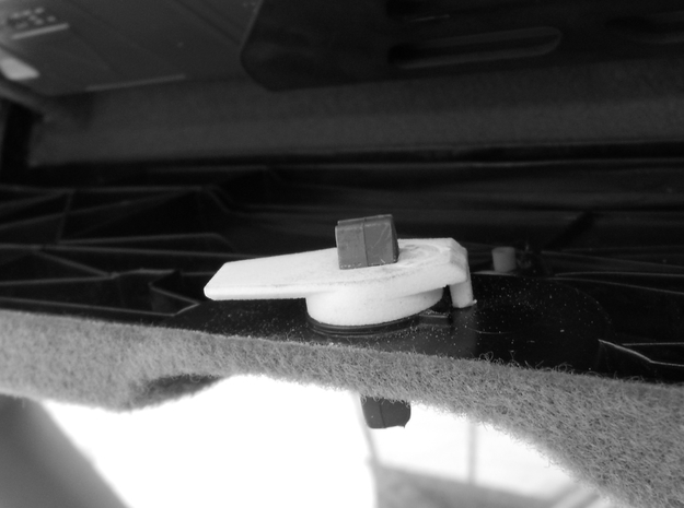 Audi Drehriegel/Hazard Trim Latch Warning Triangle 3d printed