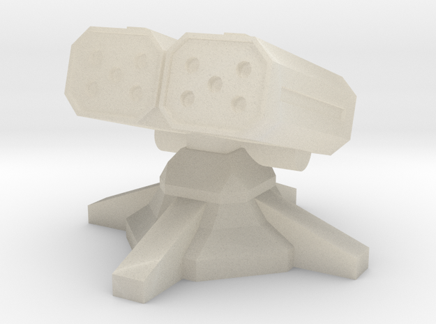 Twin Missile Turret (1/285) 3d printed