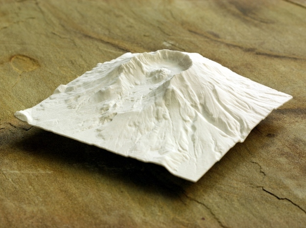 6'' Mt. St. Helens Terrain Model, Washington, USA 3d printed Photo of model