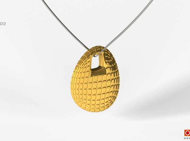 Chips Pendant #2271 3d printed